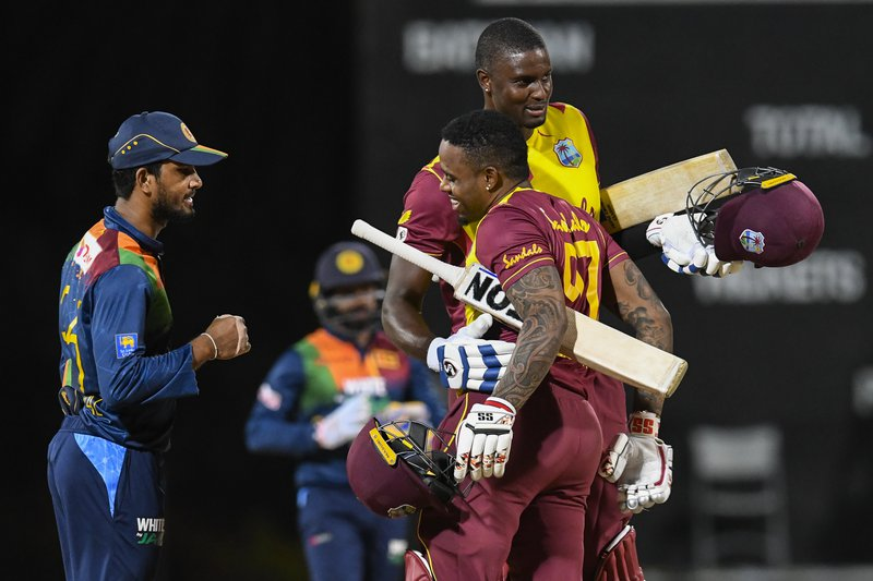 Fabian Allen Jason Holder - 3rd T20I - Sri Lanka