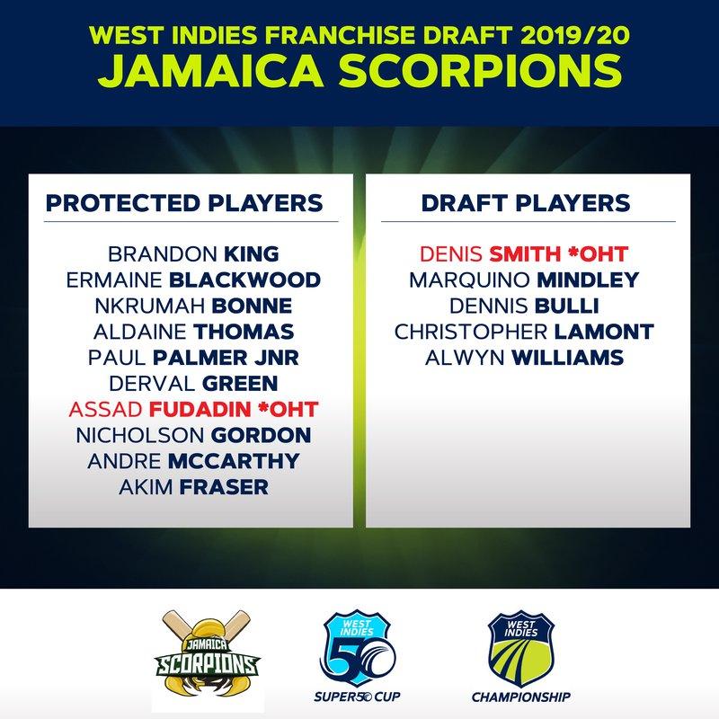 Jamaica Scorpions Draft