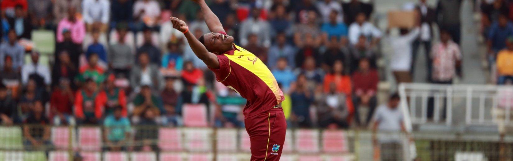 COTTRELL AND HOPE DEMOLISH BANGLADESH TO WIN 1ST T20I