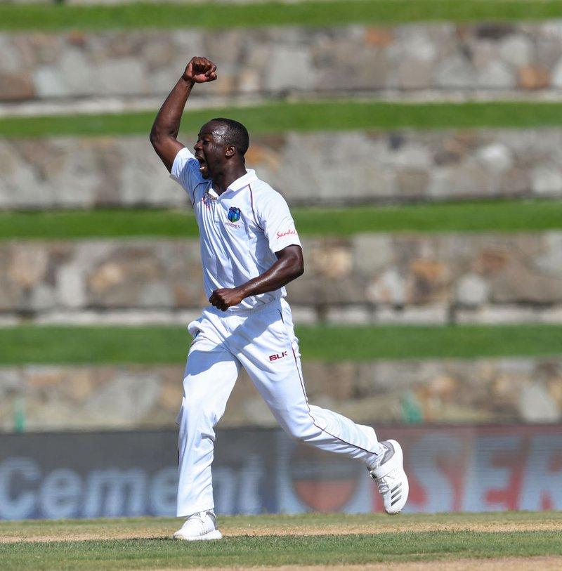 Kemar takes IND wicket.jpg