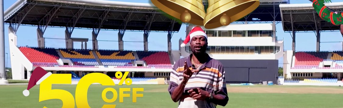 50% OFF WINDIES vs ENGLAND TICKETS UNTIL DECEMBER 24TH. CLICK HERE...