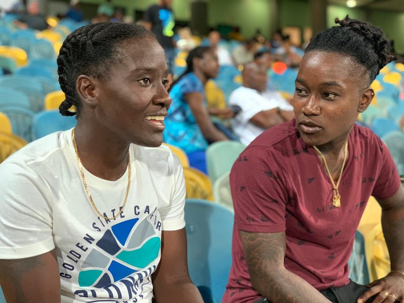Kycia and Deandra supporting from the sidelines.jpg