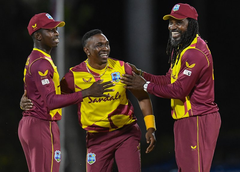 Chris Gayle Dwayne Bravo Kevin Sinclair - T20I - Sri Lanka