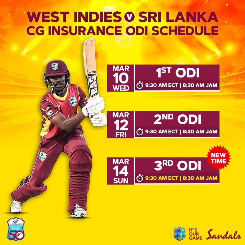New ODI Schedule - Sri Lanka 2