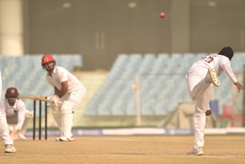Jomel Warrican in test warm up v AFG.JPG
