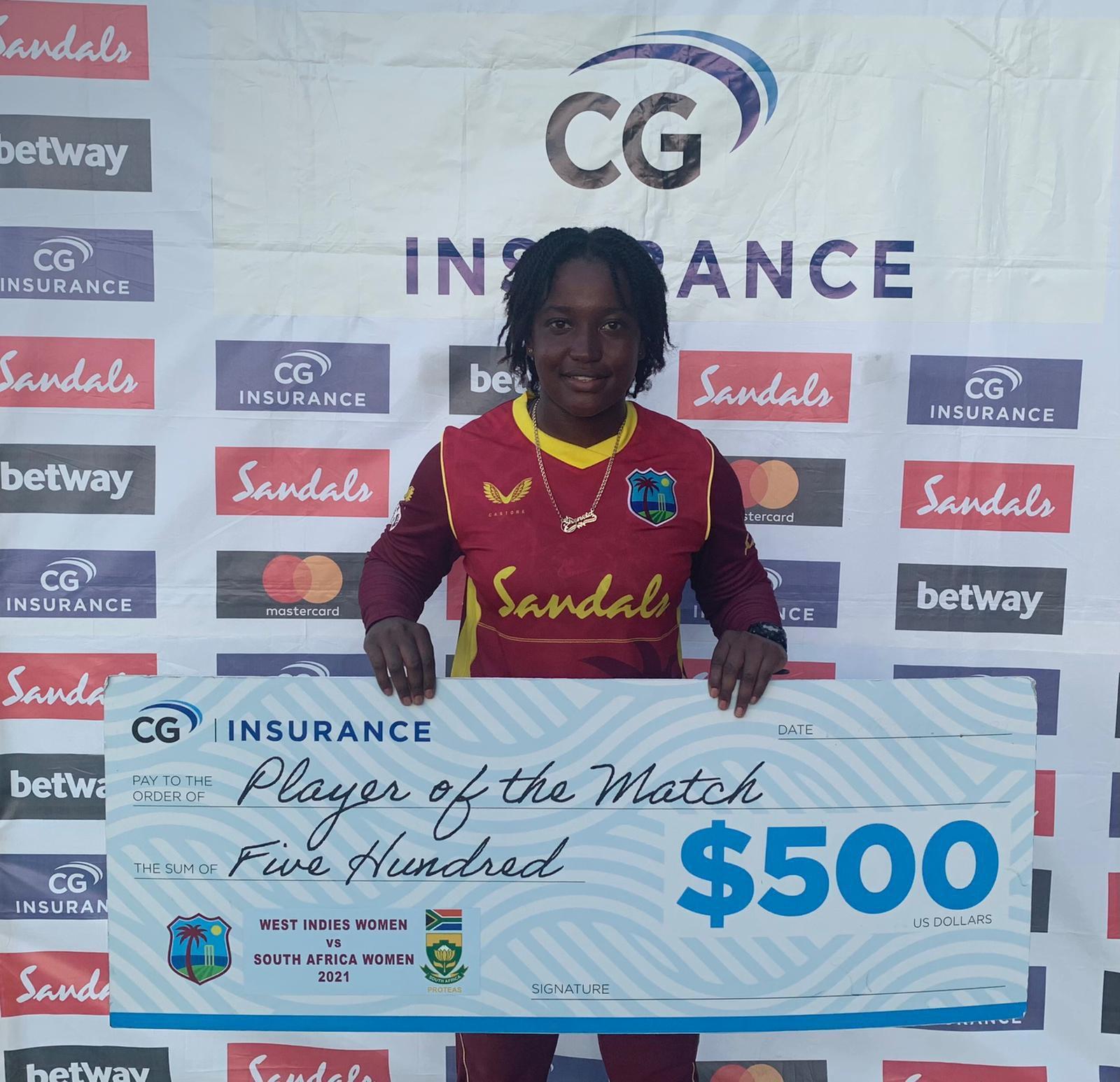 Sheneta Grimmond 5th ODI v SOuth Africa Women