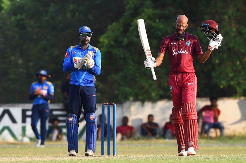 Roston Chase 100 vs Sri Lanka XI.jpg