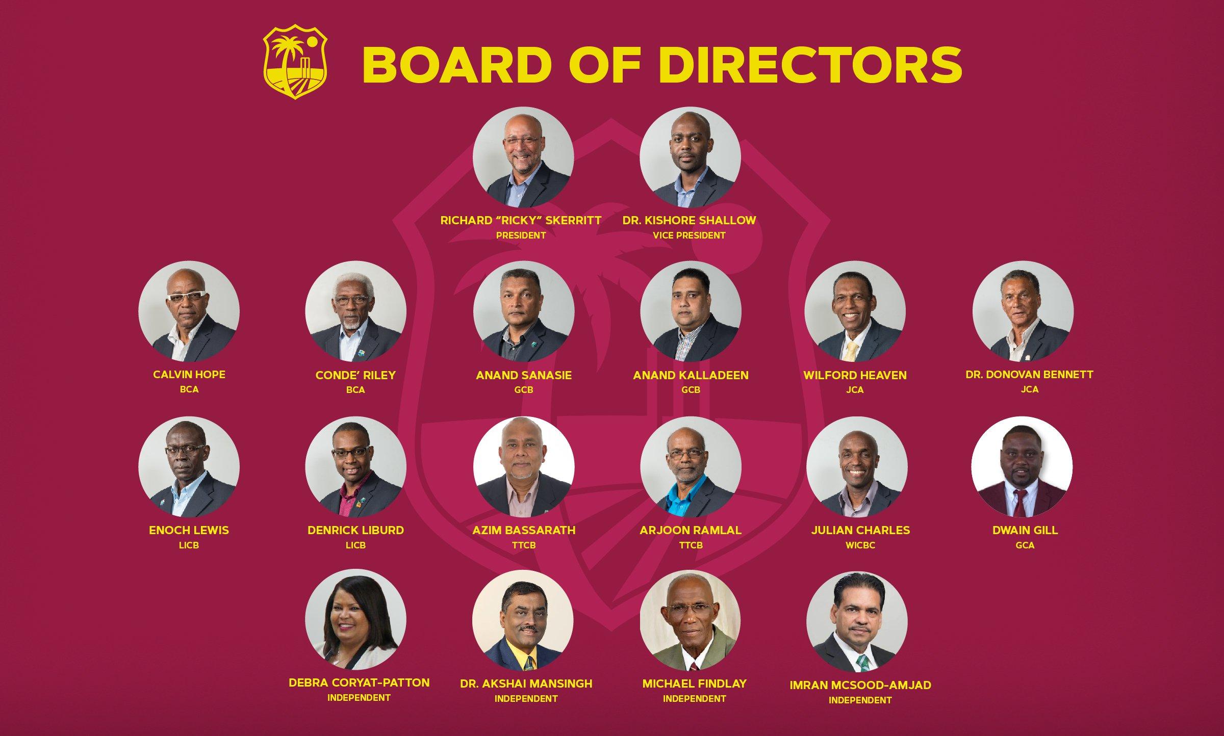 Meet The Board Of Directors Windies Cricket News