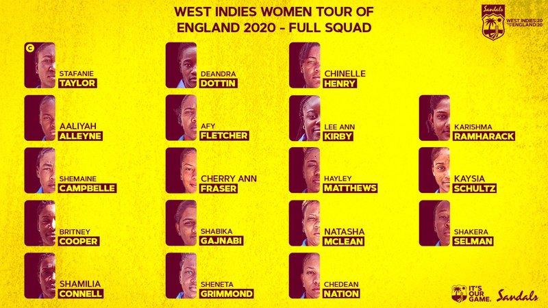 West Indies Women squad v England