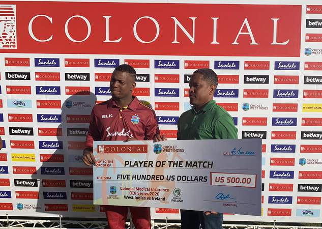 Evin Lewis - Player of the Match - 3rd ODI.jpg